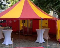 Leichtbau Zirkuszelt 8m Rund 50qm
