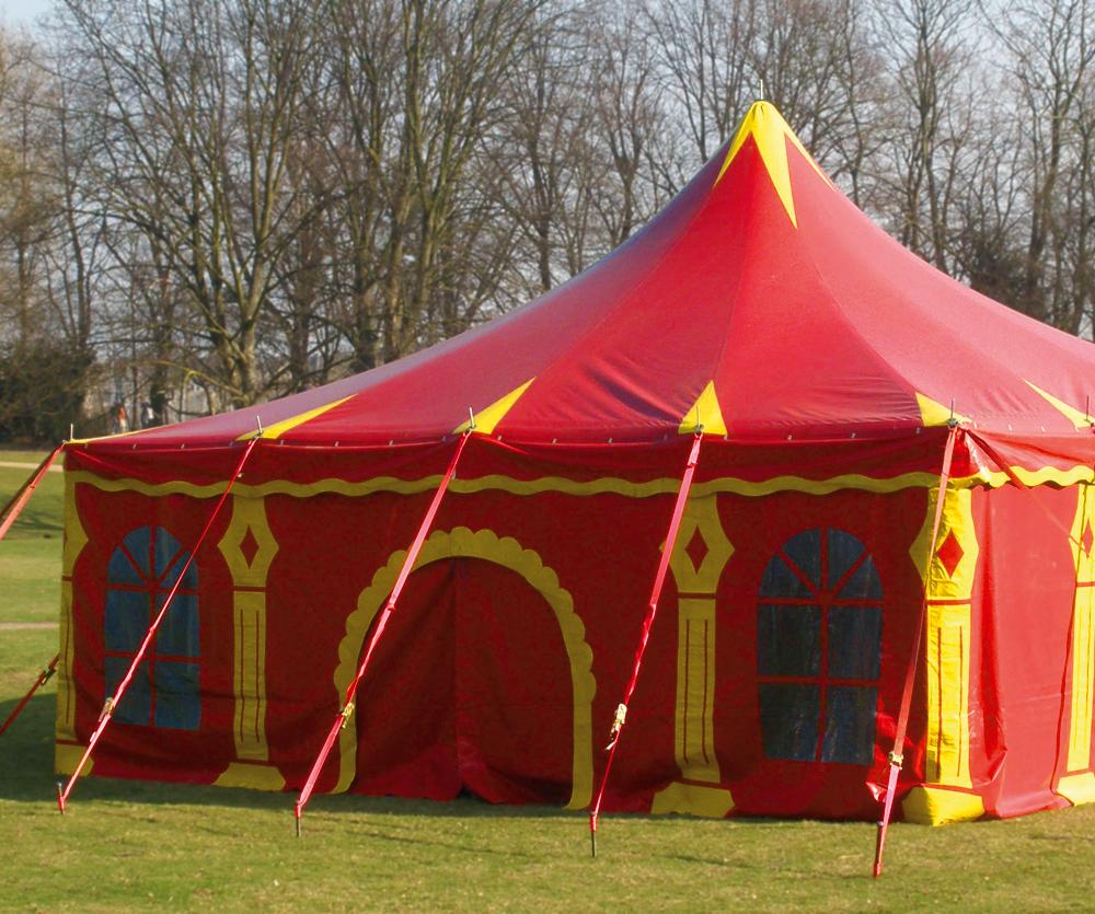 Circusevents Köln Zelt 2 8 x 8m eckig 1 Mast