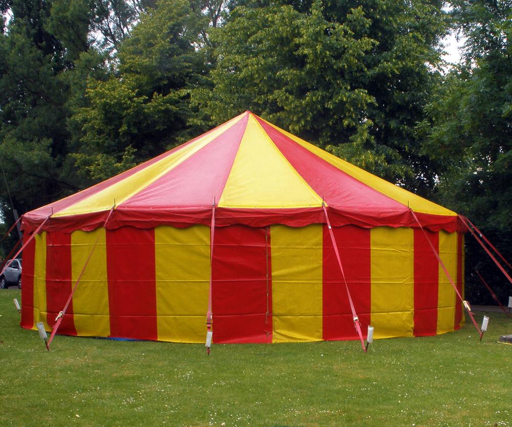 Circusevents Köln Zelt 3 10m rund 1 Mast