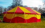 Circusevents Köln Zirkuszelt 4 oval 8x12m 2 Mast