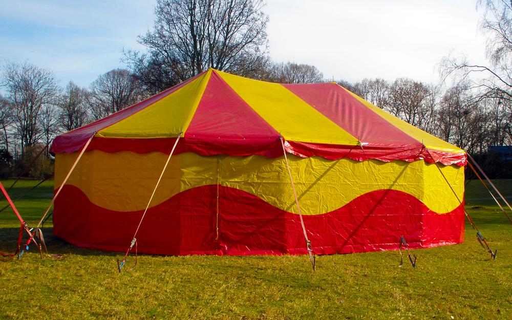 Circusevents Köln Zelt 4 8 x 12 m oval 2 Masten