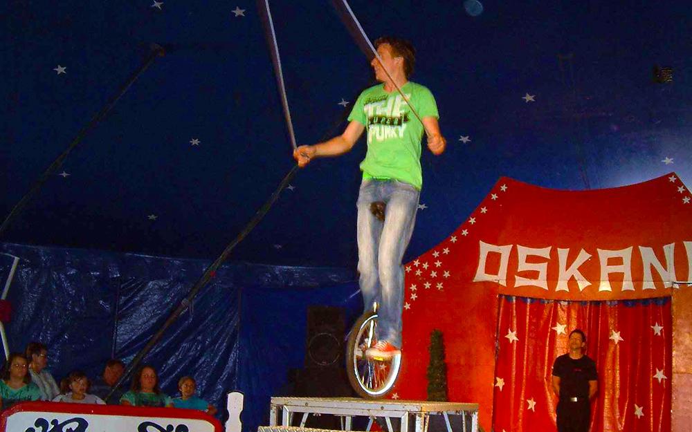 Circusevents Köln Einrad Show