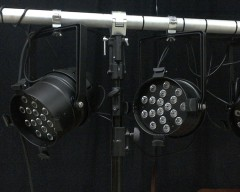 Lichtanlage PAR 64 Tri LED